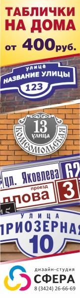 """Номера домов в ООО Дизайн-студия \""""Сфера\"""""""